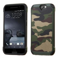 HTC One A9 Camouflage Green Backing/Black Astronoot Case