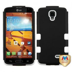 LG LS740 Volt Rubberized Black/Solid White Hybrid Case