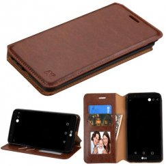 LG G Stylo 3 Brown Wallet with Tray