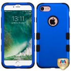 Apple iPhone 7 Titanium Dark Blue/Black Hybrid Case
