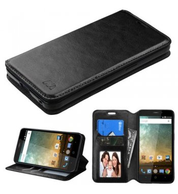 ZTE Avid Plus / Maven 2 Black Wallet(with Tray)