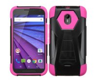 Motorola Moto G Hot Pink Inverse Advanced Armor Stand Case