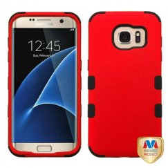 Samsung Galaxy S7 Edge Titanium Red/Black Hybrid Case