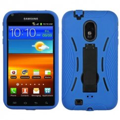 Samsung Epic 4G Touch (Galaxy S2) Black/Blue Symbiosis Stand Case