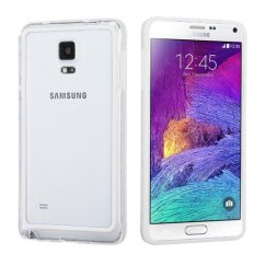 Samsung Galaxy Note 4 White/Transparent Clear Case
