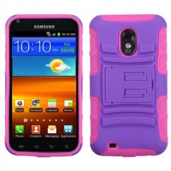 Samsung Epic 4G Touch (Galaxy S2) Purple/Electric Pink Advanced Armor Stand Case