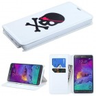 Samsung Galaxy Note 4 Big Skull/White Wallet