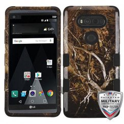 LG V20 Yellow/Black Vine/Black Hybrid Case