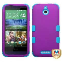 HTC Desire 510 Rubberized Grape/Tropical Teal Hybrid Case