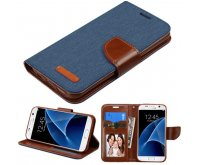 Dark Blue/BrownTPU MyJacket wallet (with card slot)(GE024) -NP