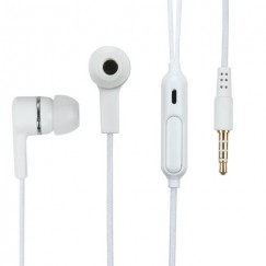 White Stereo Handsfree (with Braid Cable)