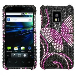 LG G2x Fairyland Butterfly Diamante Case