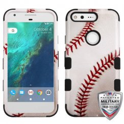 Google Pixel Baseball-Sports Collection/Black Hybrid Case - Military Grade
