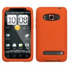 HTC EVO 4G Solid Skin Cover (Orange)