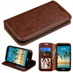 LG K3 Brown Wallet(with Tray) -WP