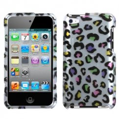 Apple iPod Touch (4th Generation) Colorful Leopard 2D Silver Case