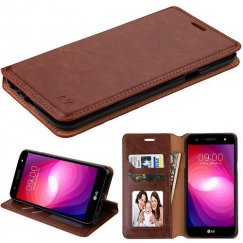 LG X Power 2 Brown Wallet with Tray