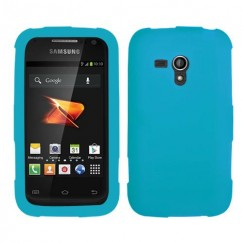 Samsung Galaxy Rush Solid Skin Cover - Tropical Teal