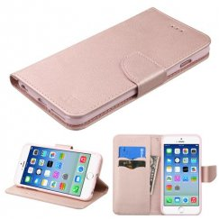 Apple iPhone 6s Rose Gold Pattern/Rose Gold Liner wallet with Card Slot