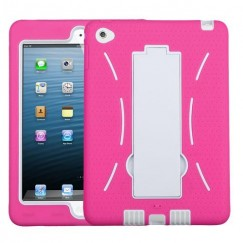 AppleiPad Mini 4th Gen White/Hot Pink Symbiosis Stand Protector Cover