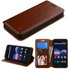 ZTE Obsidian Brown Wallet with Tray