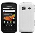 Samsung Galaxy Prevail Solid Ivory White/Black Fusion Protector Cover