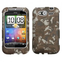 HTC Wildfire S Lizzo Digital Camo/Yellow Case