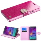 Samsung Galaxy Note 4 Hot pink Glittering (with Diamante Belt)
