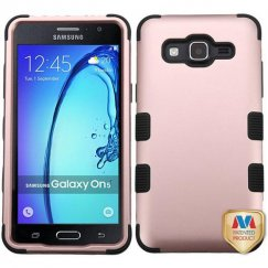 Samsung Galaxy On5 Rose Gold/Black Hybrid Case