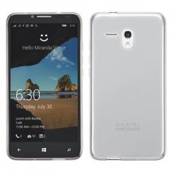 Alcatel One Touch Fierce XL Semi Transparent White Candy Skin Cover - Rubberized