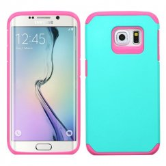 Samsung Galaxy S6 Edge Teal Green/Hot Pink Astronoot Case