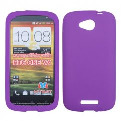 HTC One V Solid Skin Cover - Electric Purple