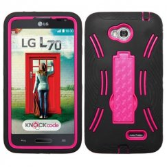 LG Optimus L70 Hot Pink/Black Symbiosis Stand Case