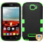Alcatel One Touch Fierce 2 Rubberized Black/Electric Green Hybrid Phone Protector Cover