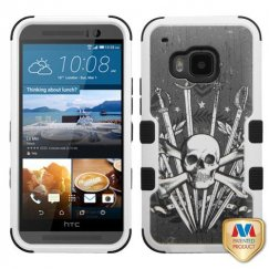 HTC One M9 Sword & Skull/Black Hybrid Case