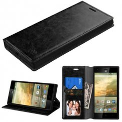 ZTE Warp Elite Black Wallet with Tray