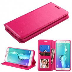Samsung Galaxy S6 Edge Plus Hot Pink Wallet with Tray
