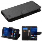 Alcatel Idol 4S Black Pattern/Black Liner wallet with Card Slot