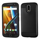 Motorola Moto G4 / Moto G4 Plus Black/Black Brushed Hybrid Case
