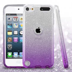 Apple iPod Touch (6th Generation) Purple Gradient Glitter Hybrid Case