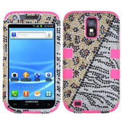 Samsung Galaxy S2 Hottie Diamante/Electric Pink Hybrid Case