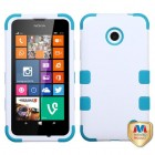 Nokia Lumia 635 Ivory White/Tropical Teal Hybrid Phone Protector Cover