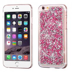 Apple iPhone 6 Plus Hot Pink Mini Crystals Rhinestones Desire Back Case