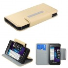 Blackberry Z10 White Premium Book-Style Wallet with Card Slot