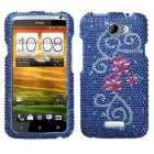 HTC One X Juicy Flower Diamante Protector Cover