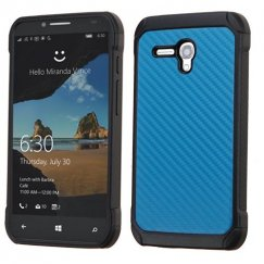 Alcatel One Touch Fierce XL Blue Carbon-Fiber Backing/Black Astronoot Case