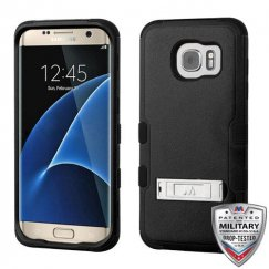 Samsung Galaxy S7 Edge Natural Black/Black Hybrid Case with Stand