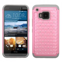 HTC One M9 Pearl Pink/Gray FullStar Case