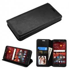 ZTE Grand X 4 Black Wallet with Tray