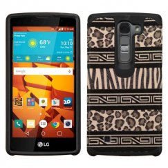 LG LS751 Volt 2 Zebra Skin-Leopard Skin/Black Advanced Armor Case